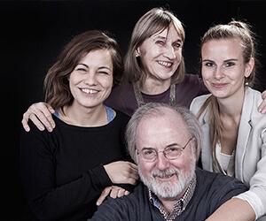 Familienportrait im fotostudio